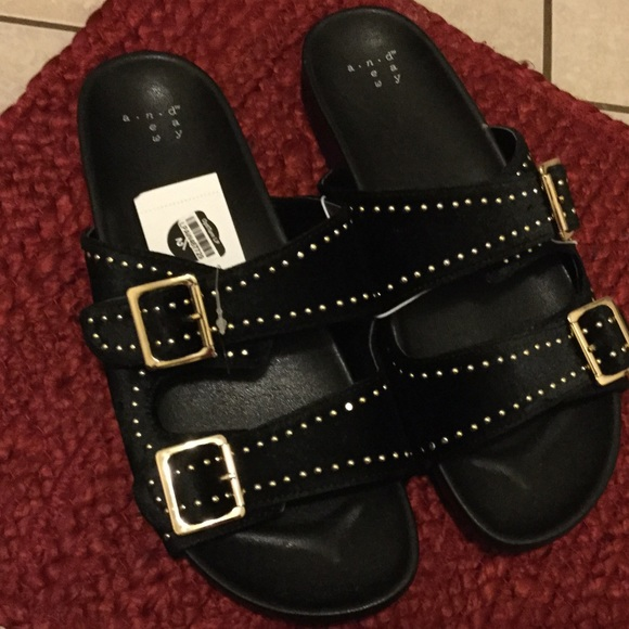 2a1e3c3bd811 A New Day women two buckle slide sandals